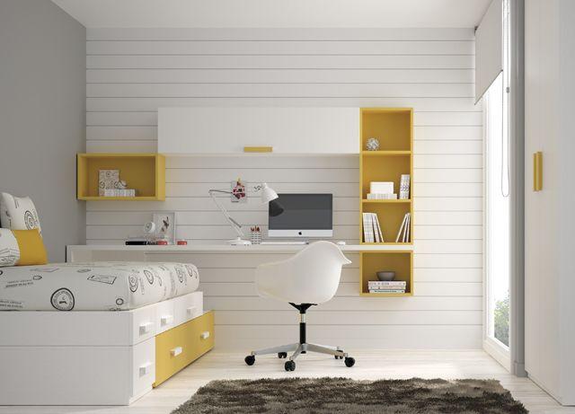 Kids touch 39 bloc dormitorio juvenil juvenil camas - Camas con escritorio ...