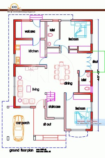 1200 sq ft house plans india | Amioun Tiny Guest House | Pinterest