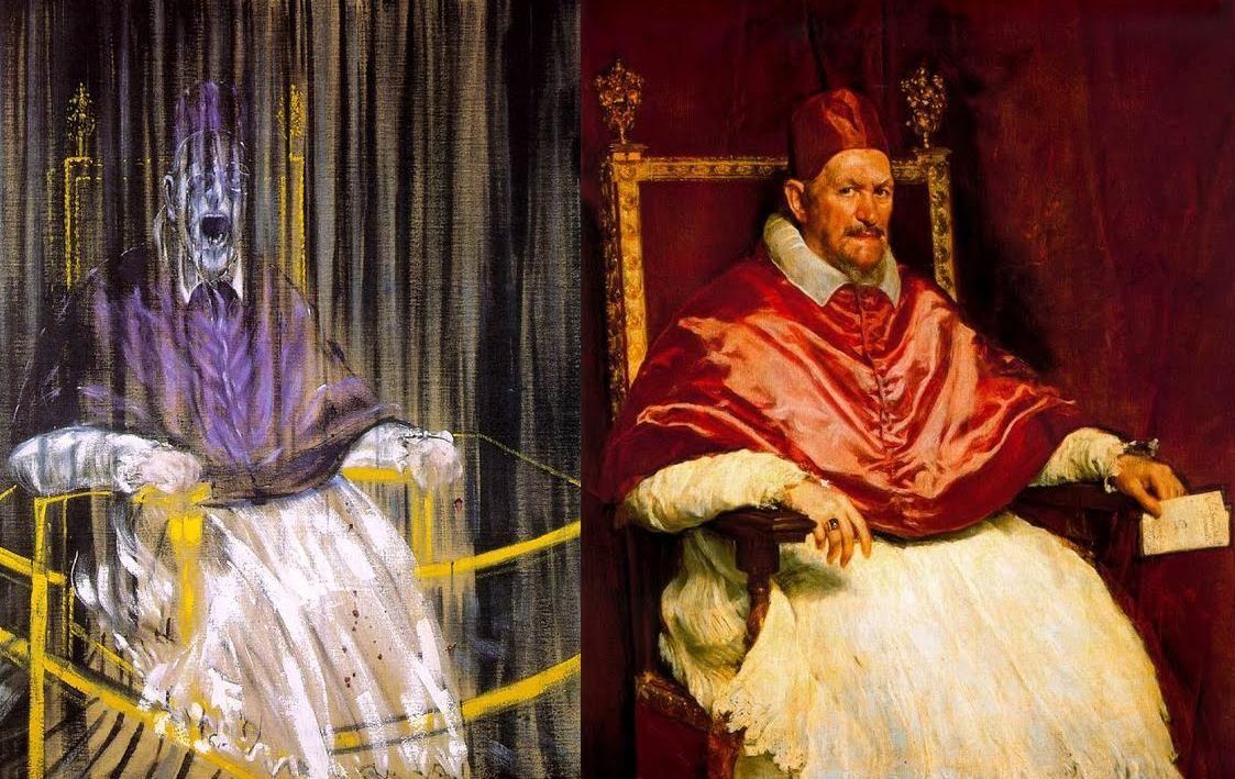 Francis Bacon / Diego Velazquez-Retrato del papa Inocencio X ...