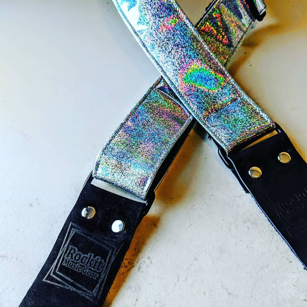 Just added! Holographic glitter ukulele straps! 🌈 🌴🌺☁️