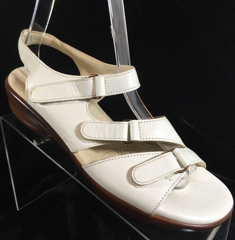 df891dd5eb1c SAS Shoes Womens Wedge Heel Dress Sandals WHITE Leather Size 7 M  SAS   AnkleStrap  Casual