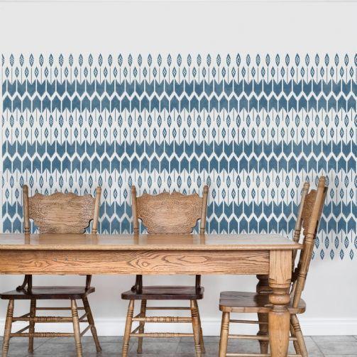 MOHAWK Furniture Wall Stencil By Dizzy Duck Designs   Tribal American  Indian Stencil