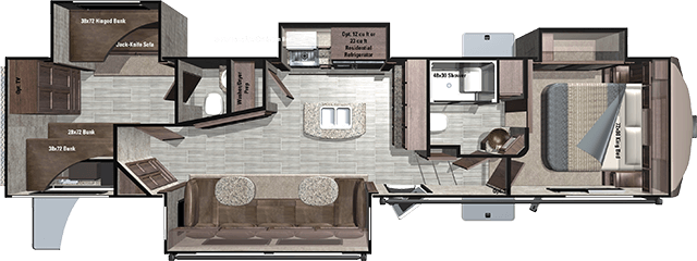 Another new floorplan from highland ridge rv this new for 2 bathroom 5th wheel