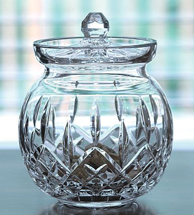 Waterford Lismore Round Biscuit Barrel With Lid Waterford Waterford Crystal Waterford Lismore