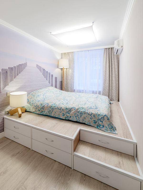 Functional podium bed perfect decision for a cosy bedroom