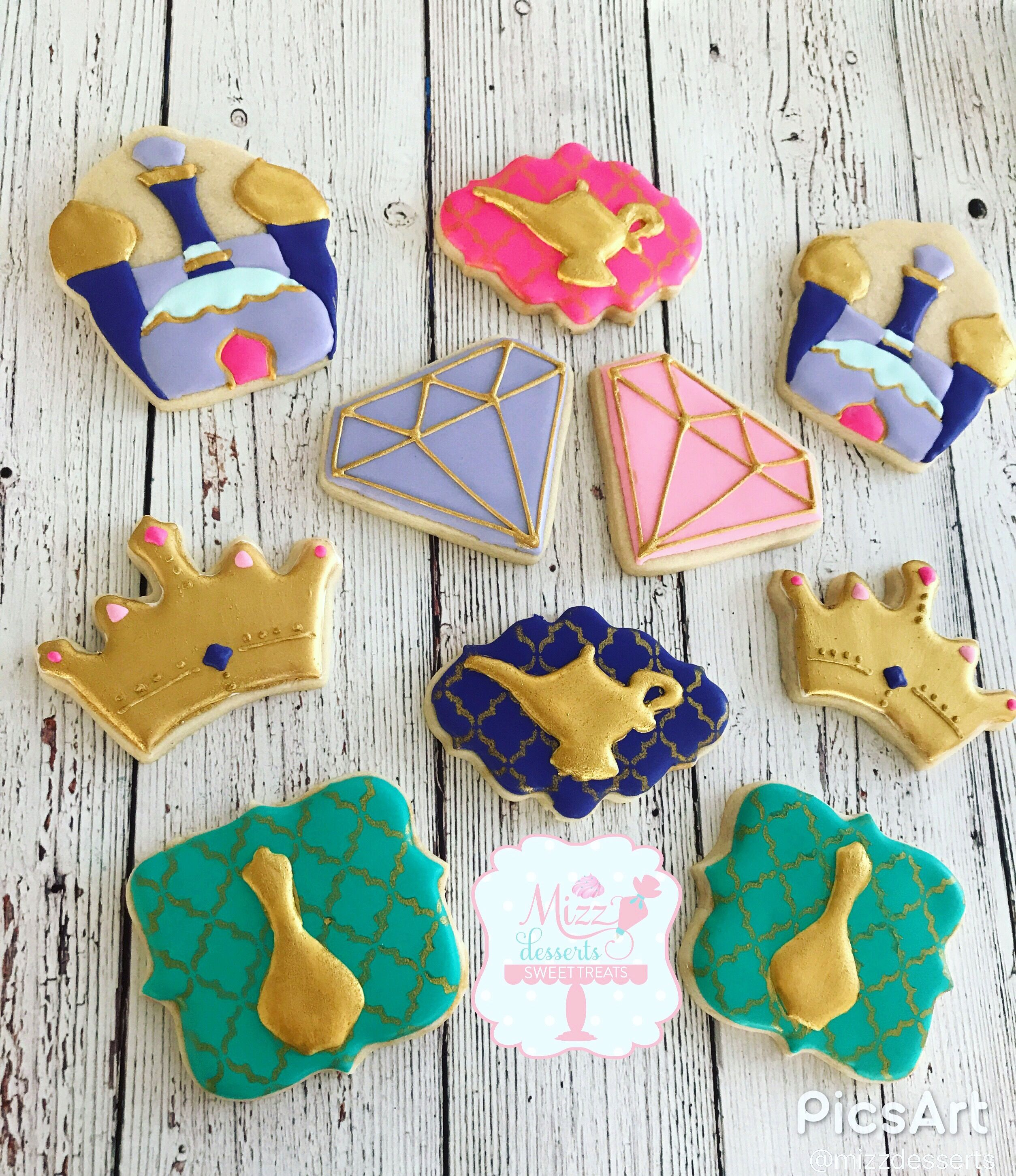 Shimmer And Shine Themed Sugar Cookies