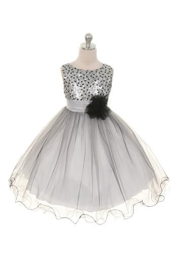 bbb21d572eed She ll Look so Beautiful in this Sparkling Sequined Silver Black ...