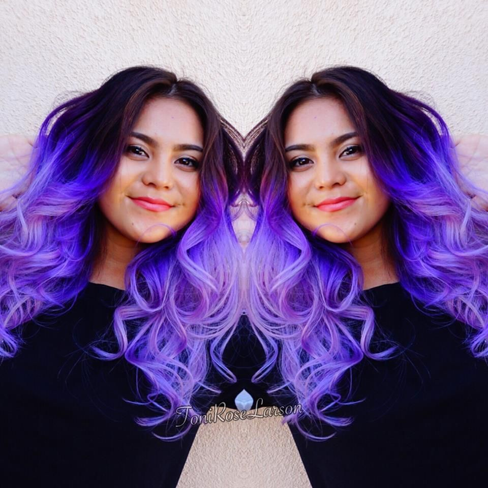 Lavender Ice by Toni Rose Larson Gorgeous lavender hair color balayage ombre vibrant hair mermaid hair fb.com/hotbeautymagazine