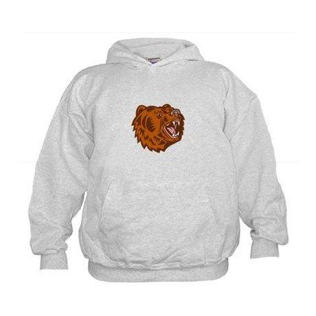 d4d3dfa04 California Grizzly Bear Head Growling Woodcut Hood Nasa Hoodie, Digital  Camo, Sweatshirts, Hoodies