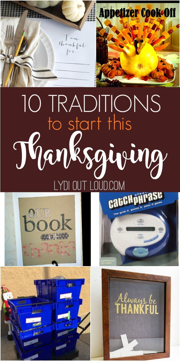 10 Traditions to start this Thanksgiving
