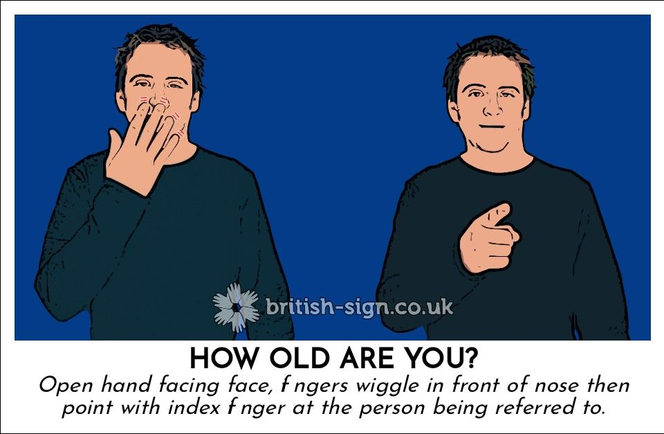 How old are you sign language sign language phrases