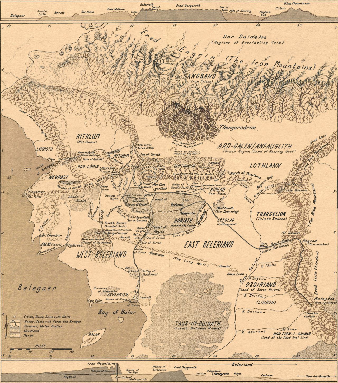 full map of beleriand at long last i found it