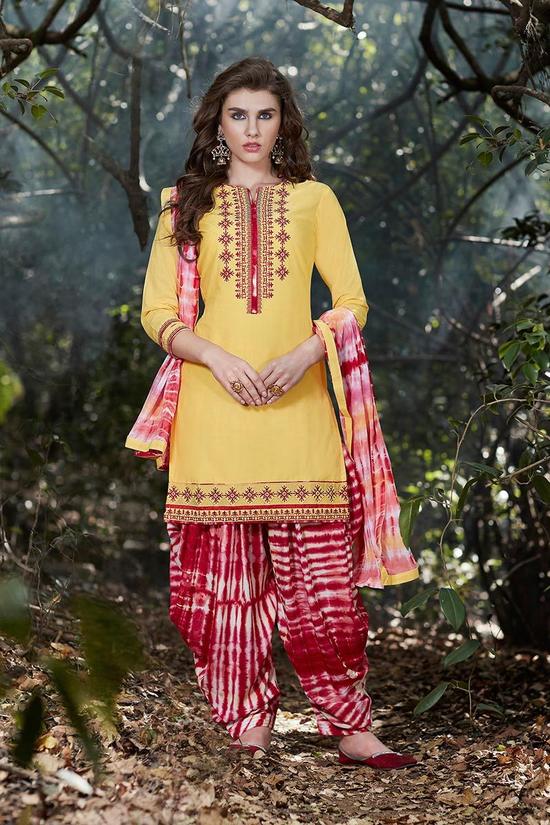 7225dc90a3 #Yellow #Cotton #Printed #Patiala #Suit #nikvik #usa #designer #australia # canada #freeshipping #fashion #dress #suits #sale