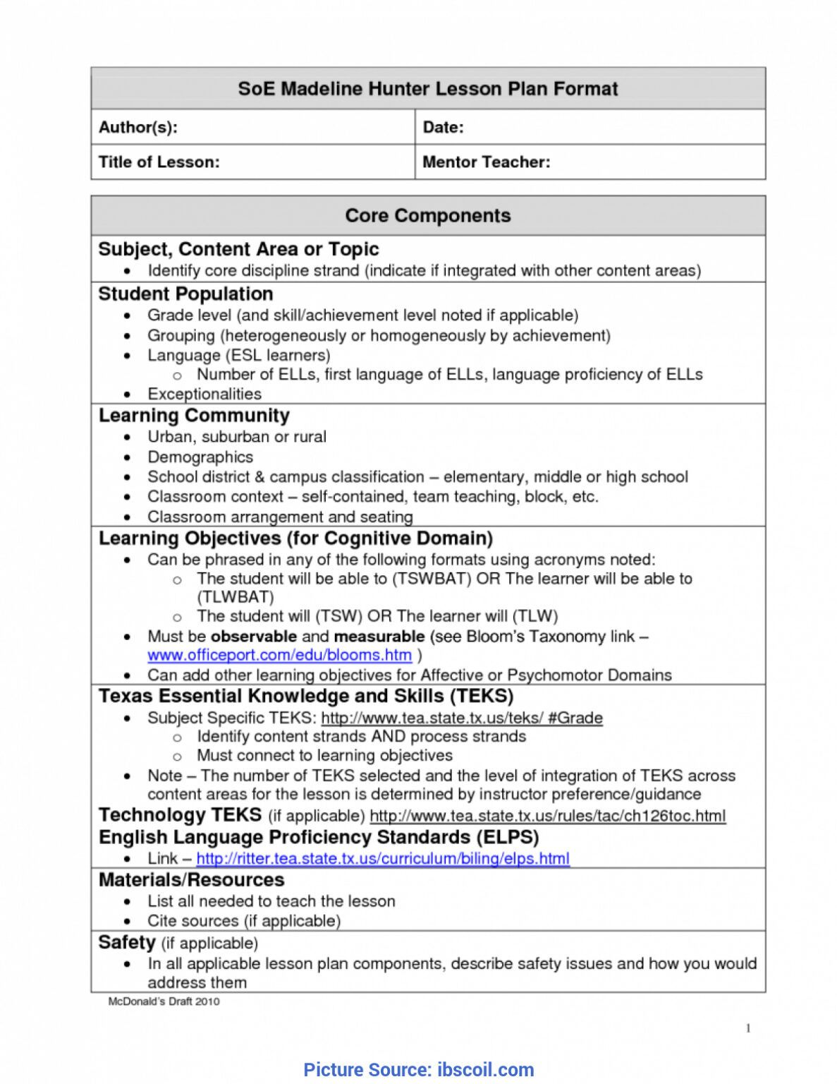 Madeline Hunter Lesson Plan Template Twiroo Com Lesso Pertaining To Mad Madeline Hunter Lesson Plan Guided Reading Lesson Plan Template Lesson Plan Templates Madeline hunter lesson plan template
