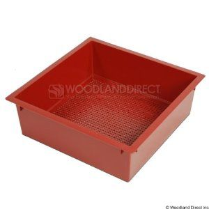 "VermiHut Single Tray - Terra Cotta by VermiTek Garden LLC. $9.00. Each tray averages about 12 pounds when full of compost. Constructed of high density polyethylene. Expand your Worm Factory with a . This tray is constructed of recycled high density polyethylene and measures 16"" x 16"" x 5"". The Worm Factory can be expanded to 7 trays total. Three trays normally provides enough room for the kitchen waste of two adults. Each tray averages to be about 12 pounds when full ..."