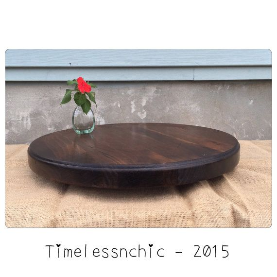 Wood Lazy Susan  Wooden Lazy Susan  Farm Table  by TimelessNchic