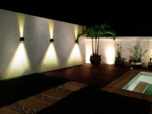 Bidireccional de iluminacion potente exterior lampara for Luces patio exterior