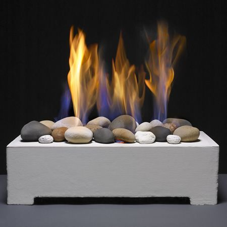 White Fire Rock Vent Free System Fireplace Insert Fire Rocks European House Natural Gas Fireplace