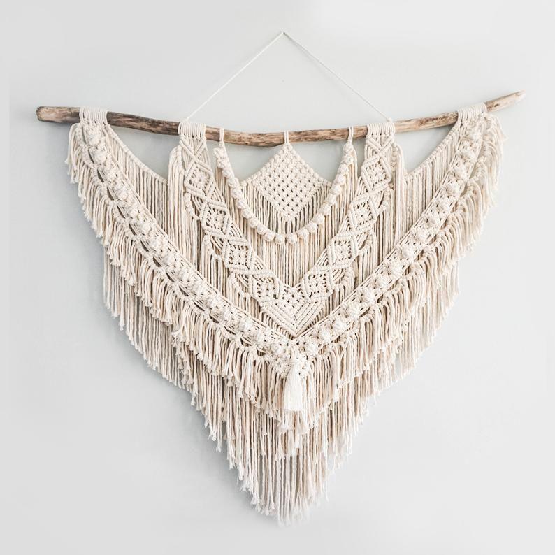 Die Dope Seil große 46 große Makramee Wandbehang / / Wandteppich / / Makramee Dekor / / Boho Dekor / / Wandkunst / / Boho / / Made to order