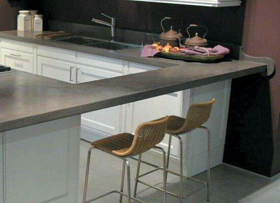 Concrete Kitchen Cocina Cemento Alisado Cocinas Modernas