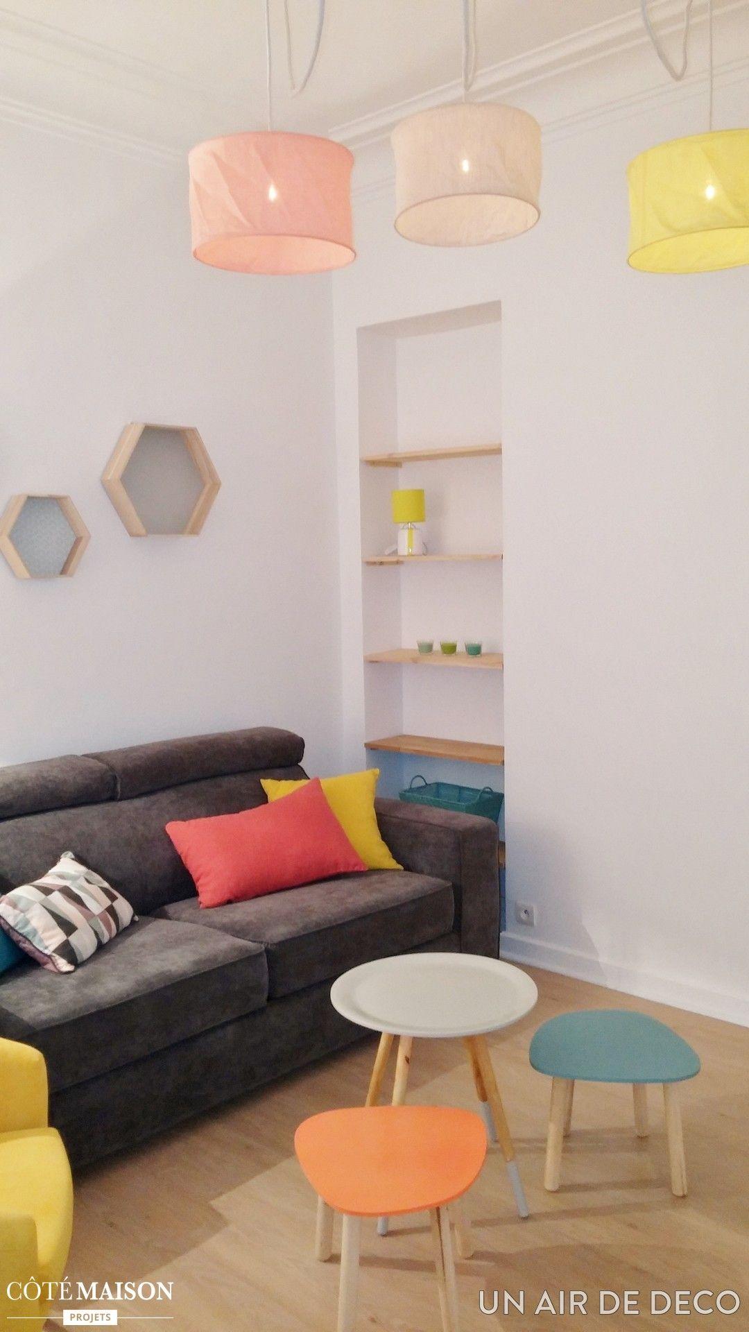 une d coration color e pour un appartement en rez de. Black Bedroom Furniture Sets. Home Design Ideas