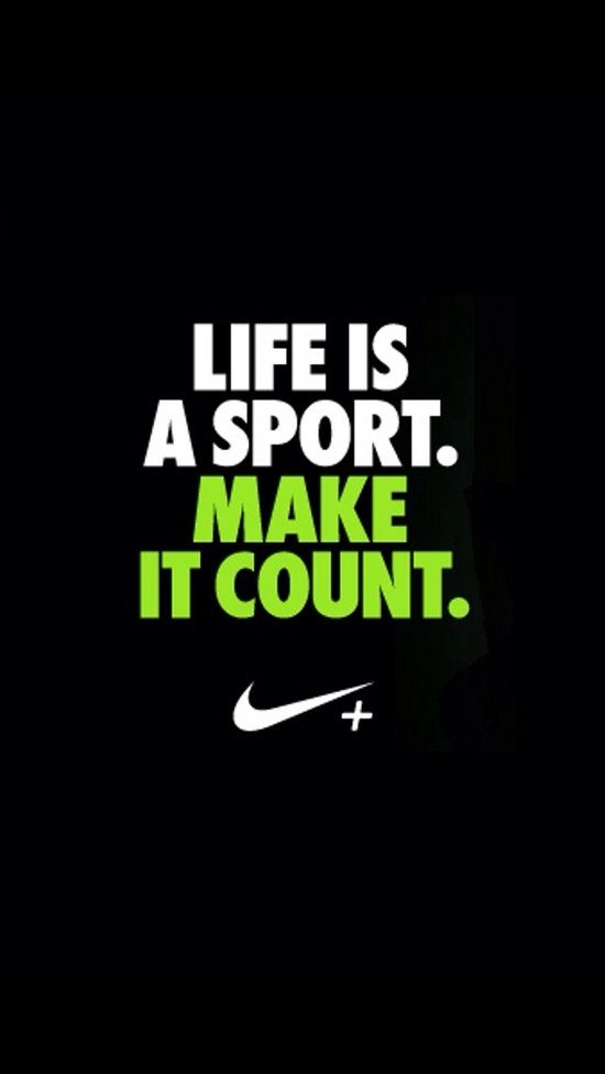 I Really Like The Simplicity Of Nike S Design For The Poster But Not Sure If It S Too Simple Sports Quotes Nike Quotes Soccer Quotes