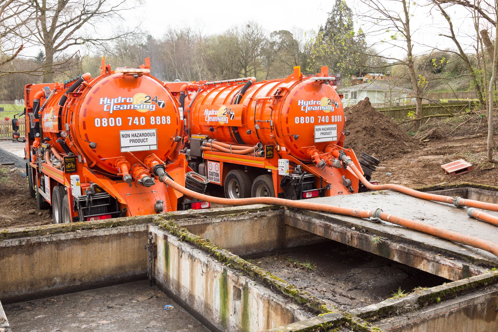 Cess empty double capacity half the time septic tank