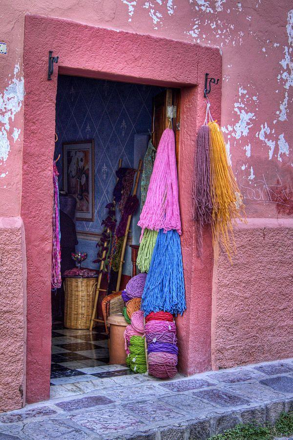 San Miguel Yarn Shop Yarn shop, San miguel, Mexico culture