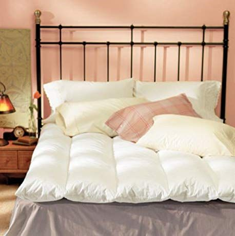 Feather Bed Mattress Topper Natural 100 Percent Cotton Baffle