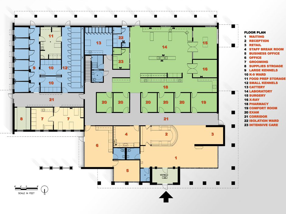 Veterinary Floor Plan Yukon Hills Animal Hospital Building A Vet Practice Floorplans