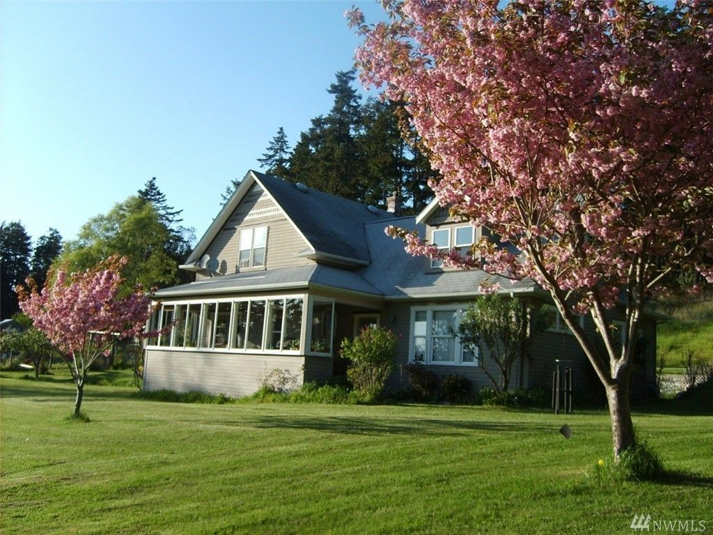 harming Island Farmhouse on 10.7 acres in two separate tax parcels (home on 5.2 acres; 2nd parcel 5.7 acres). Very private, south facing, with views of the Olympic Mountains. http://cb.sanjuanislands.com/idx/details/listing/a045/939329/246-Redwing-Rd