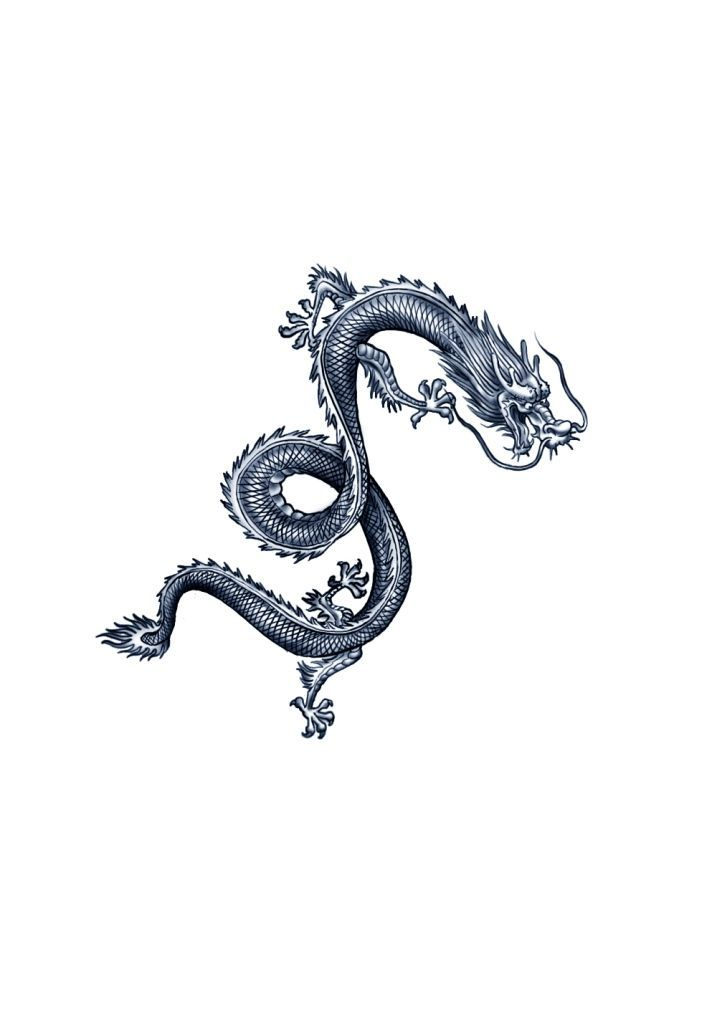 Chinese Dragon Tattoo Line Art In 2020 Small Dragon Tattoos Chinese Dragon Tattoos Tattoos