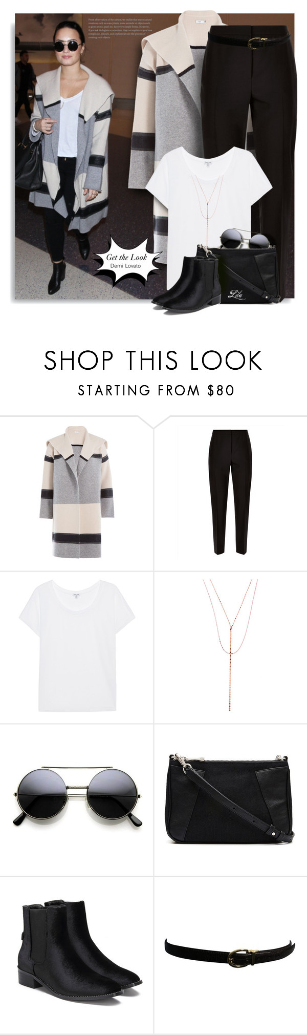 """Get the Look: Demi Lovato"" by breathing-style ❤ liked on Polyvore featuring Vince, Jaeger, Splendid, Lana, Witchery and Ralph Lauren"