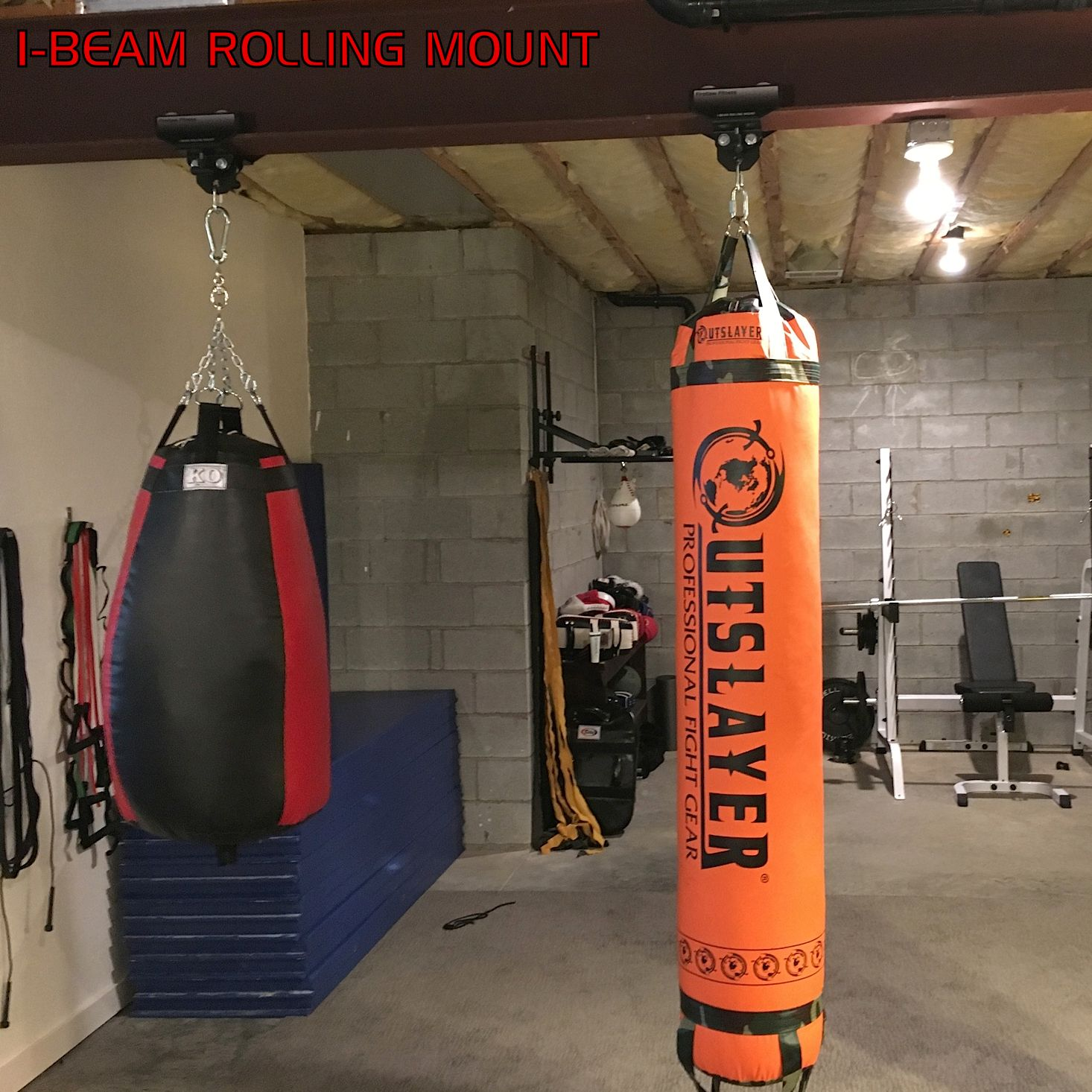Body first floor mounted punching bags matttroy
