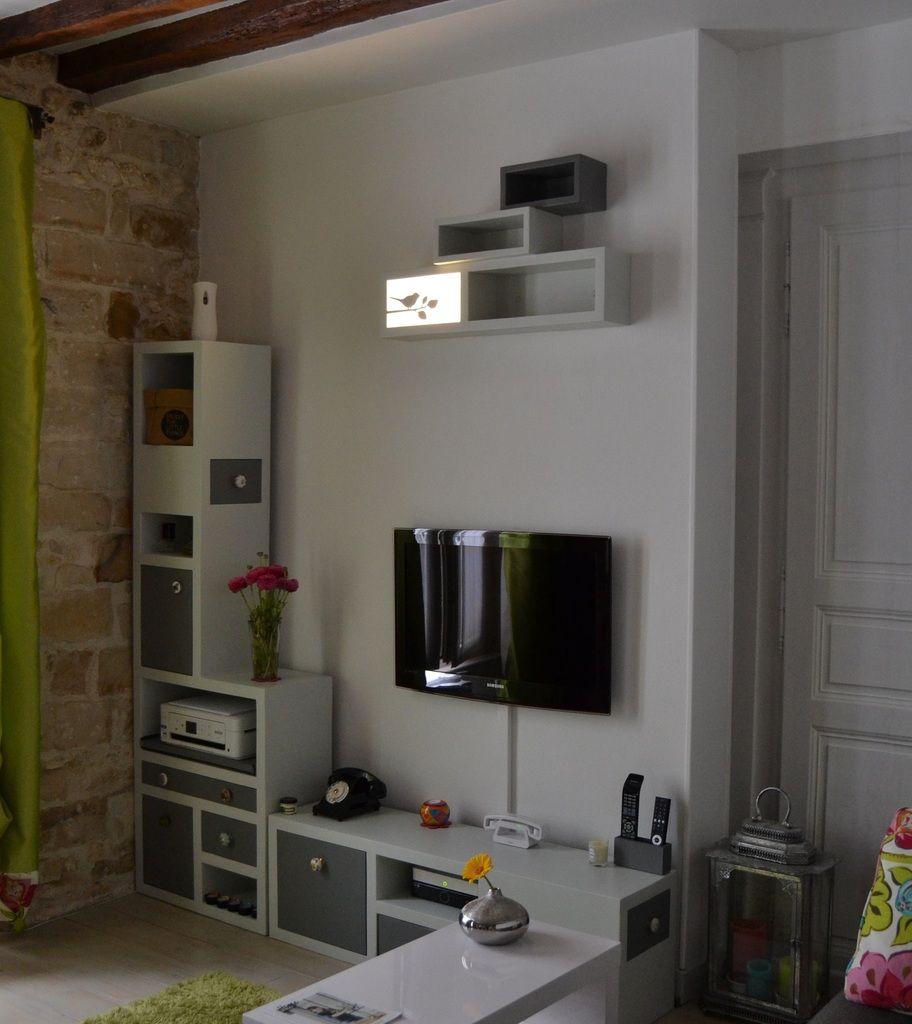 Meubles En Carton Tv Et Meuble Applique Murale Www Mobilier Carton  # Meuble Tv En Carton