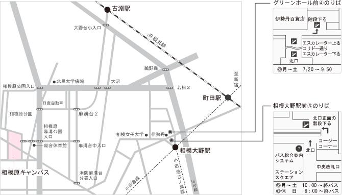 相模原キャンパス 詳細地図