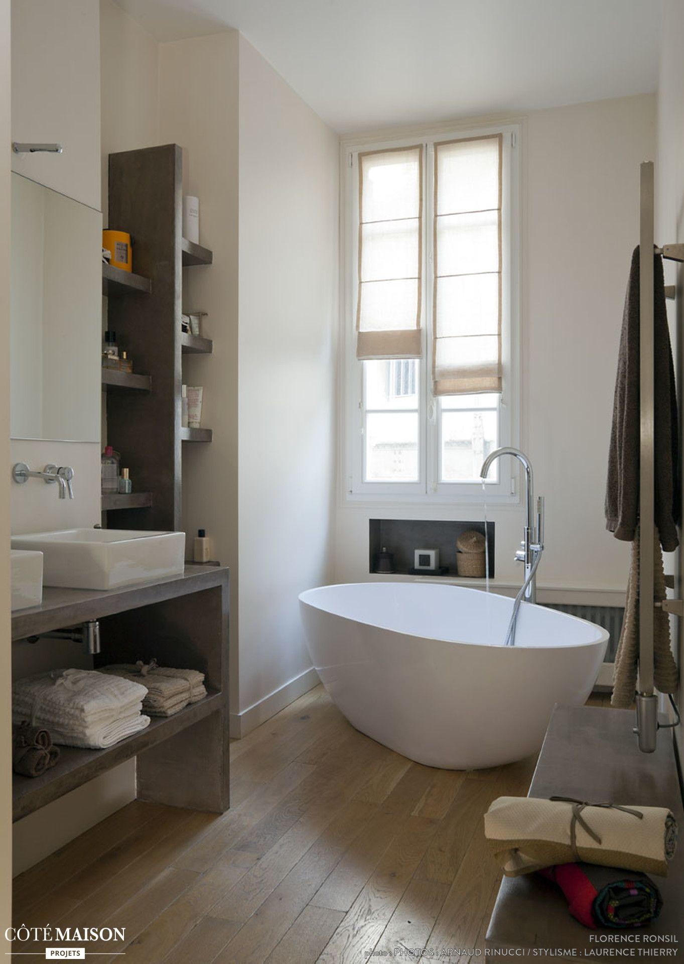 Un appartement haussmannien remis au goût du jour  Salle de bain