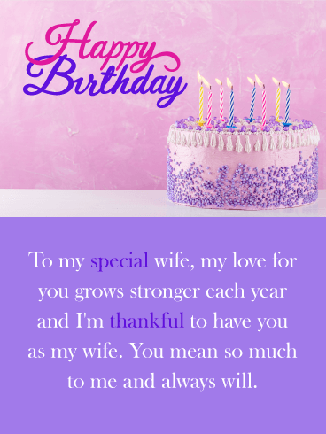 You Mean So Much Happy Birthday Card For Wife Birthday Greeting Cards By Davia Happy Birthday Cards Images Happy Birthday Cards Happy Birthday Wishes Cards