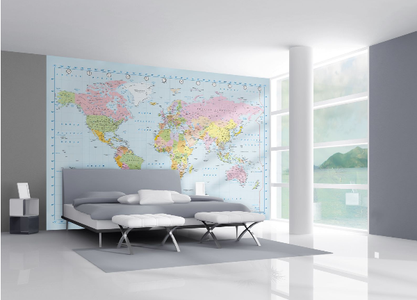 World map mural for any setting or room httpwww world map mural for any setting or room httpwowwallpaperhanging gumiabroncs Choice Image