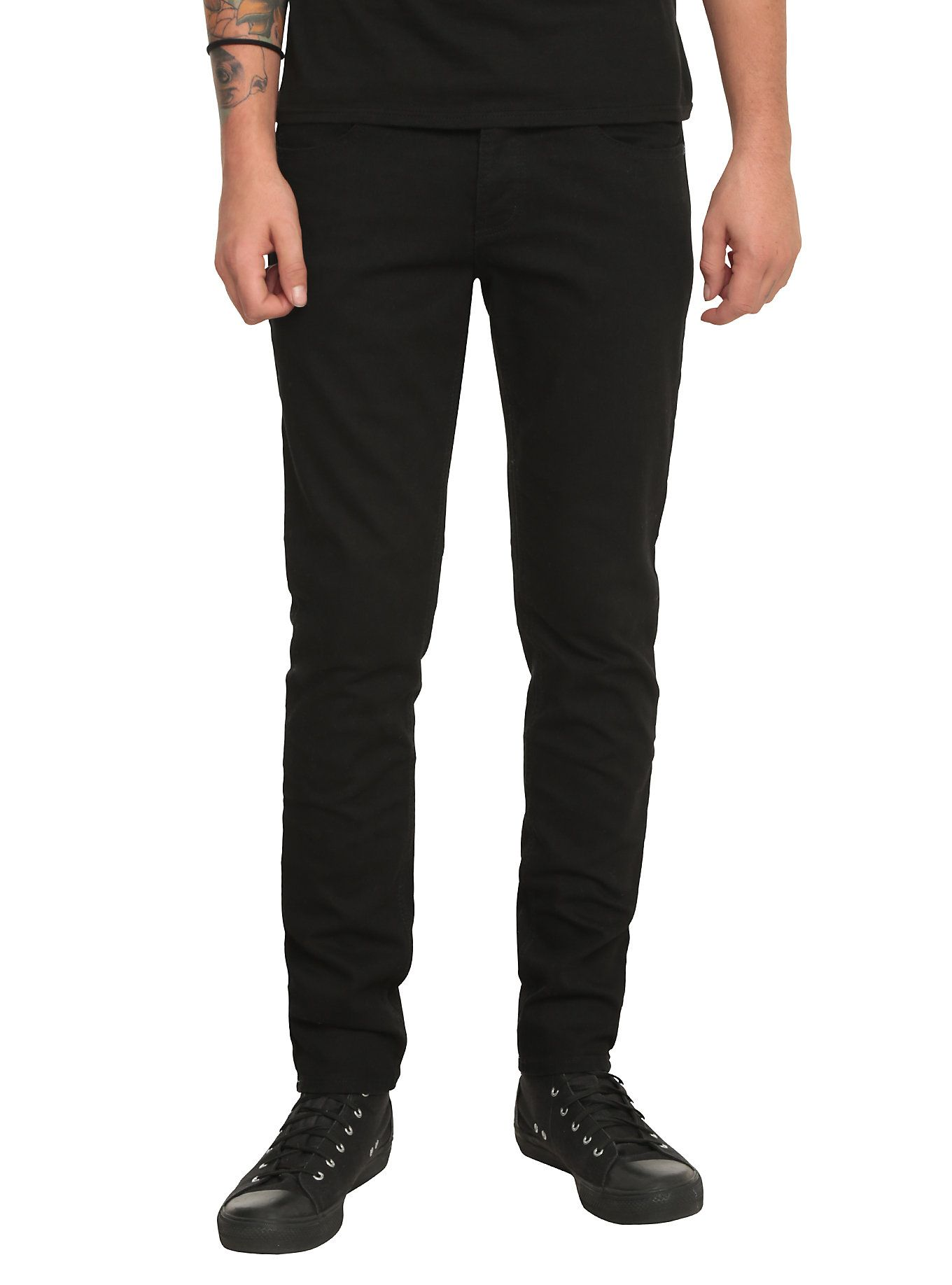 Faded Black Skinny Jeans Men - Xtellar Jeans