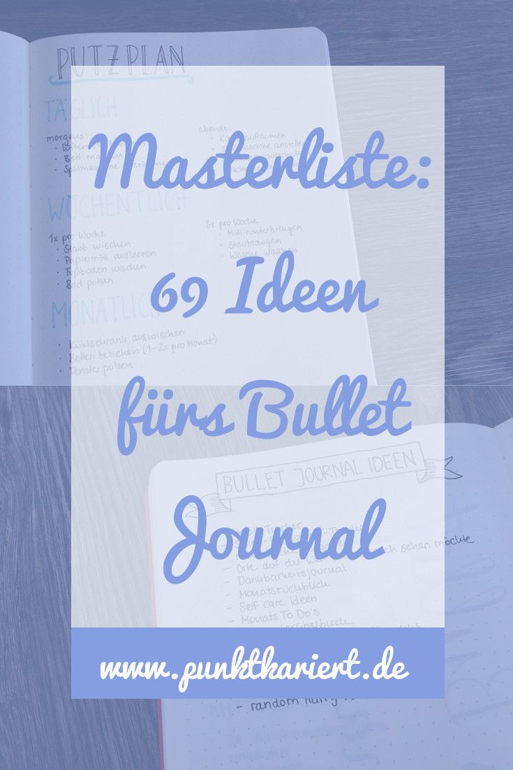 die masterliste 69 ideen f r dein bullet journal. Black Bedroom Furniture Sets. Home Design Ideas