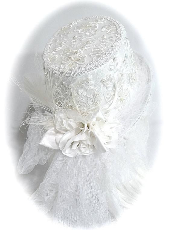 69857a57213ce Bridal Lace Top Hat Pearl Lace Hat Women s Hats BH-103 in 2019 ...