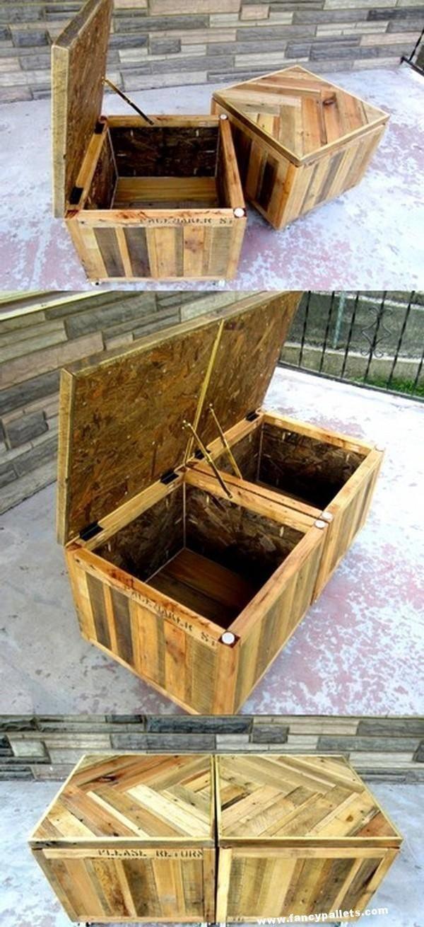 Wood Pallet Toy Box And Storage Plans Palletfurniture