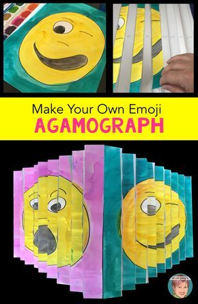 How To Make Your Own Emoji Agamograph Video Tutorial Step By Step Instructions The Tpt Blog Elementary Art Projects Art Projects For Teens School Art Projects