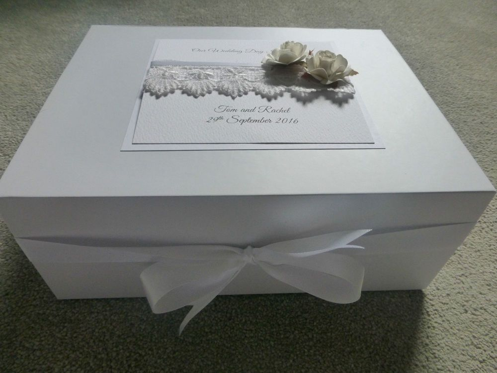 Details About Extra Large Wedding Keepsake Memory Box Personalised