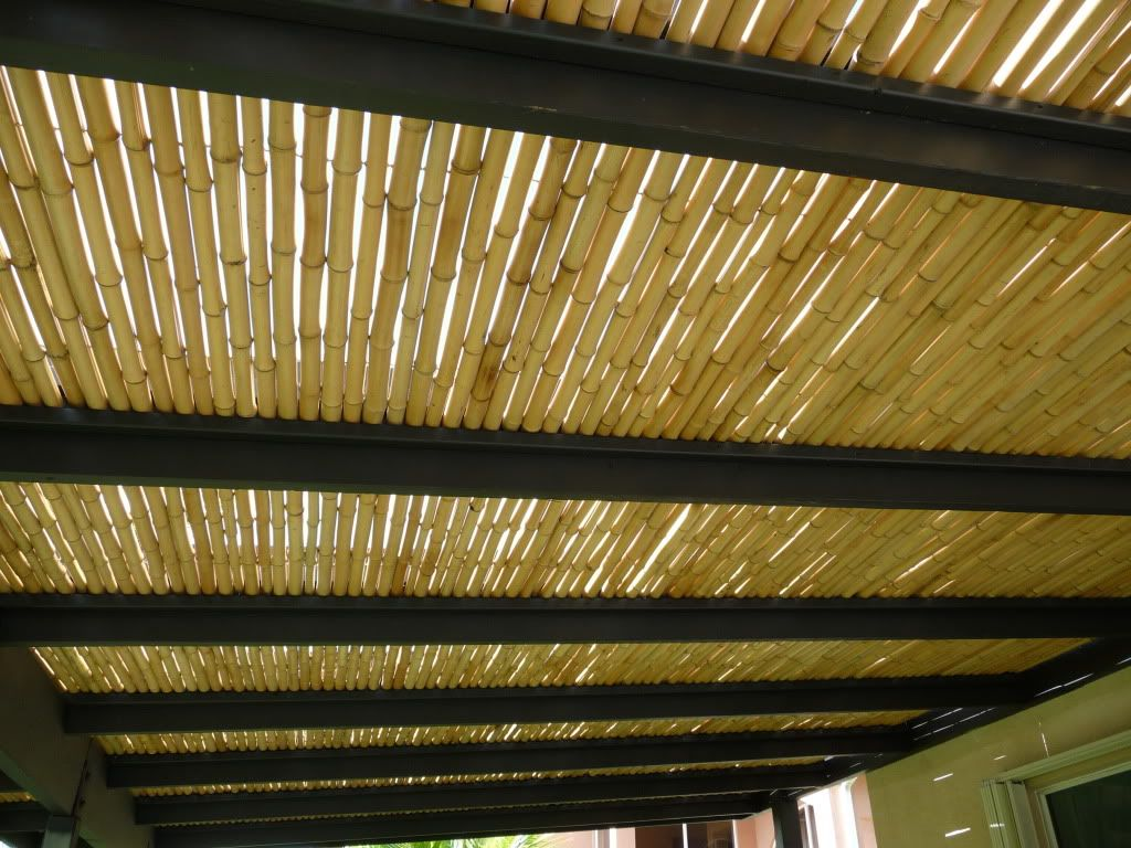 pergola with bamboo roof bamboo roof