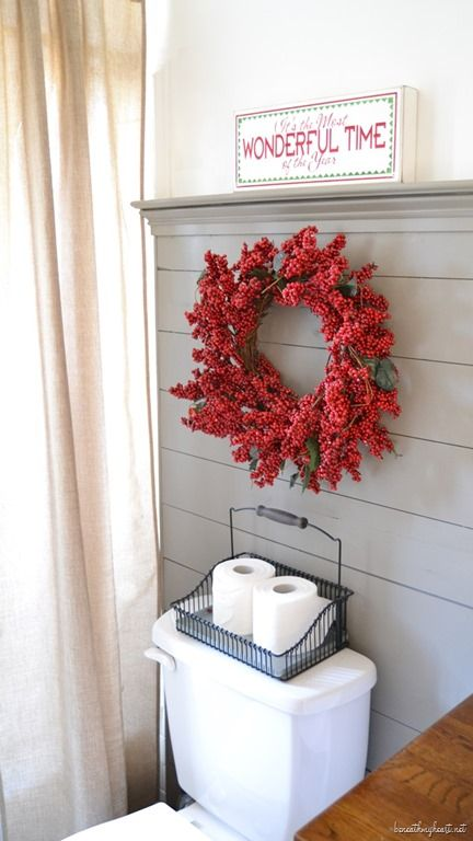 Christmas Home Tour {Part One | Christmas bathroom decor ...