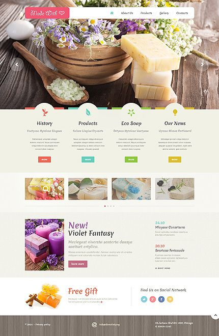 Template 48988 - Handmade Soaps Responsive Website Template