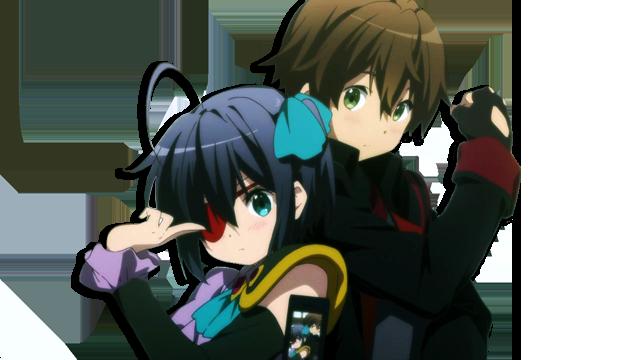 Yuuta and Rikka By Hendrix7733 Anime, Koi, Chūnibyō demo