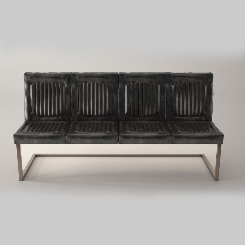 Dining Bench With Back Black